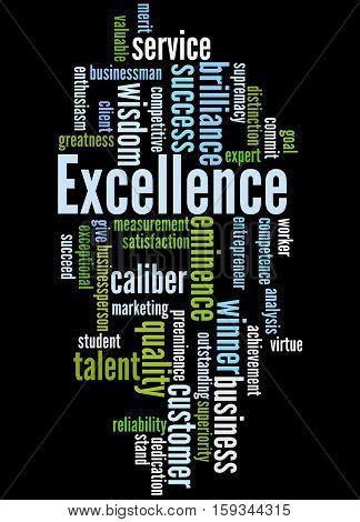 Excellence, Word Cloud Concept 4
