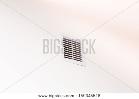 Close Up Of Vent On The White Wall