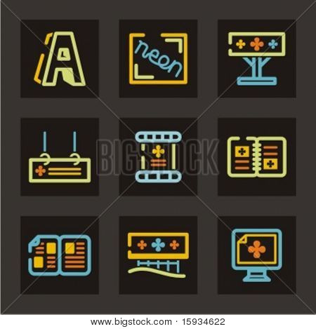 Advertising icons set. Billboards, signs and flyers. Check my portfolio for much more of this series as well as thousands of similar and other great vector items.