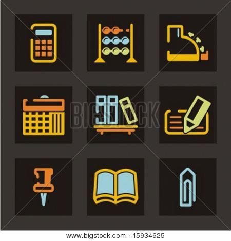 Trade and business icons set. Check my portfolio for much more of this series as well as thousands of similar and other great vector items.