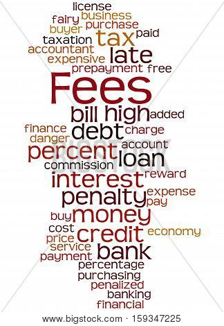 Fees, Word Cloud Concept 6