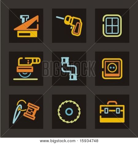 Tools icons set. Check my portfolio for much more of this series as well as thousands of similar and other great vector items.