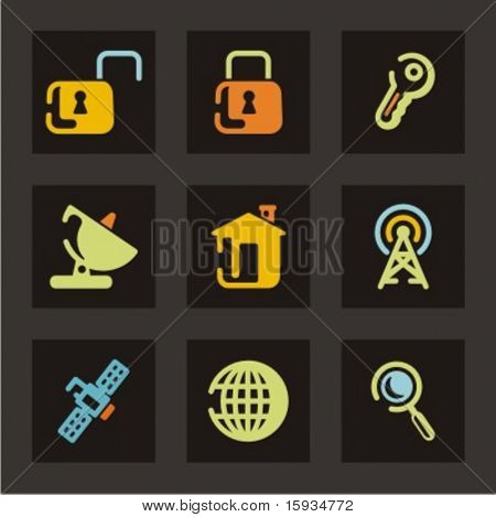Web icons set. Check my portfolio for much more of this series as well as thousands of similar and other great vector items.