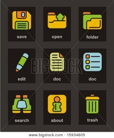 Color Icon Series. Basic icons set. Check my portfolio for much more of this series as well as thousands of similar and other great vector items.