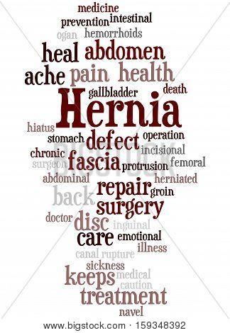 Hernia, Word Cloud Concept 9