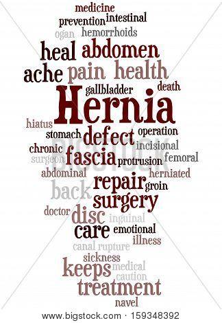 Hernia, Word Cloud Concept 9