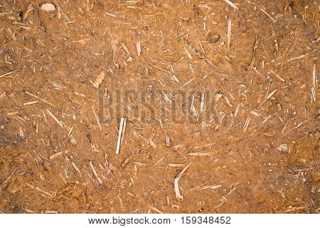 Adobe texture. Construction material made with dry straw and clay.
