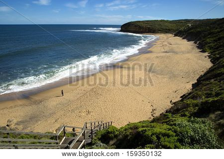 Bells beach, well known for surf on Great ocean road in Victoria, Australia