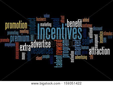 Incentives, Word Cloud Concept 4