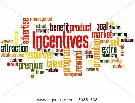 Incentives, Word Cloud Concept 7