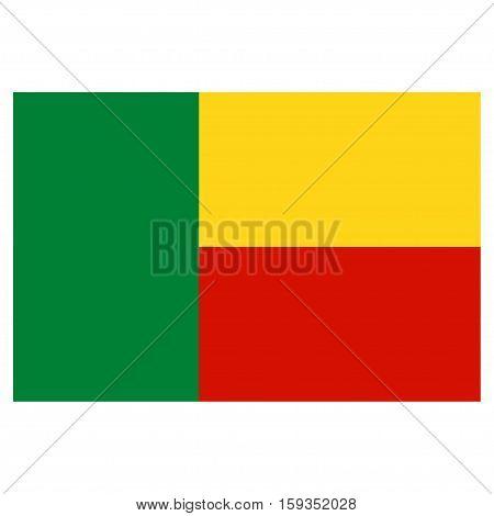 Flag of Benin on a white background