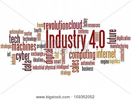 Industry 4.0, Word Cloud Concept 3