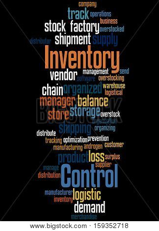 Inventory Control, Word Cloud Concept 2