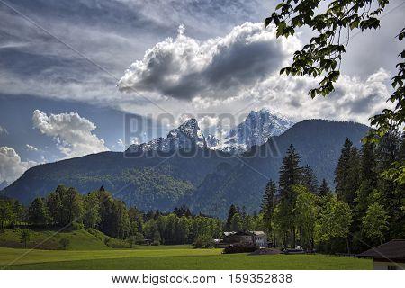 Watzmann Peak, near to Berchtesgaden, Germany and the Koenigssee