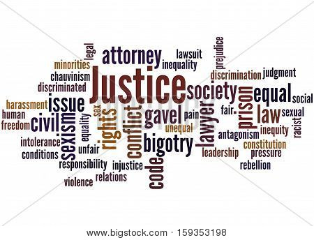 Justice Word Cloud Concept