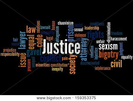 Justice Word Cloud Concept 3