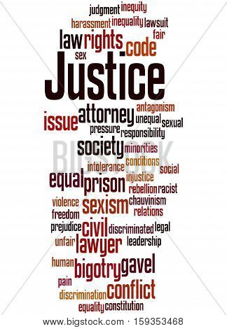 Justice Word Cloud Concept 4