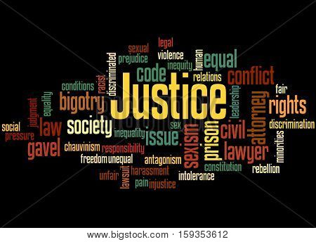 Justice Word Cloud Concept 5