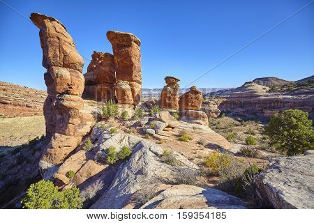 Devils Kitchen Rock Formations In The Colorado National Monument, Colorado, Usa.