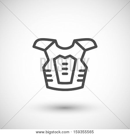 Motorcycle protector line icon isolated on grey. Vector illustration
