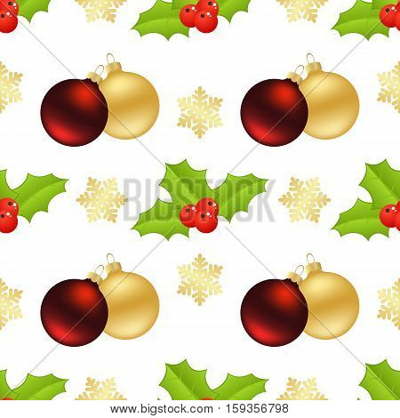 Christmas seamless with gifts and christmas trees on white background.