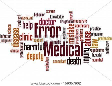 Medical Error, Word Cloud Concept