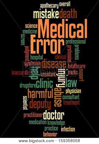 Medical Error, Word Cloud Concept 2