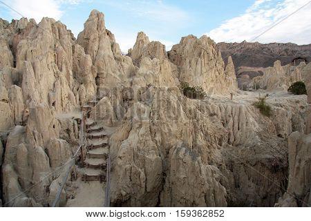 Valle De La Luna rock formations, La Paz, Bolivia, South America