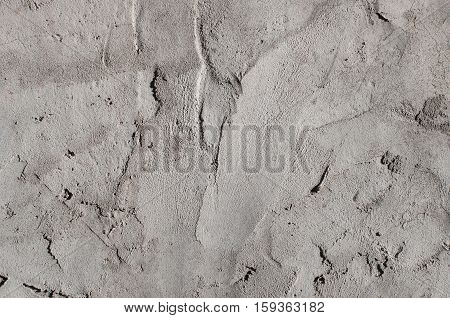 Texture Of Gray Cement Strokes