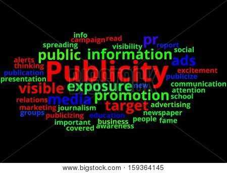 Publicity, Word Cloud Concept 4