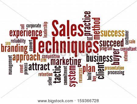 Sales Techniques, Word Cloud Concept 8