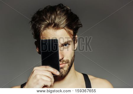 Handsome Man With Smartphone
