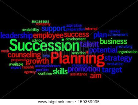 Succession Planning, Word Cloud Concept 2