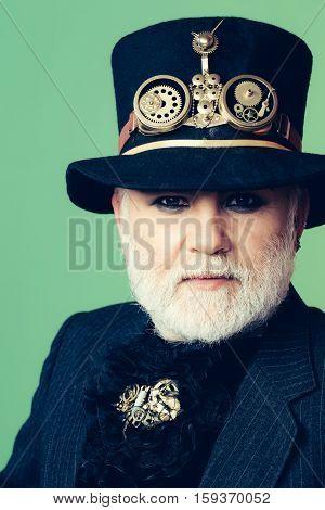 Senior Bearded Man Or Watchmaker