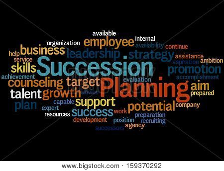 Succession Planning, Word Cloud Concept 6