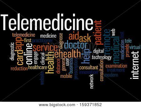 Telemedicine, Word Cloud Concept 6