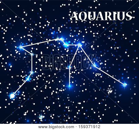 Symbol Aquarius Zodiac Sign. Vector Illustration. EPS10