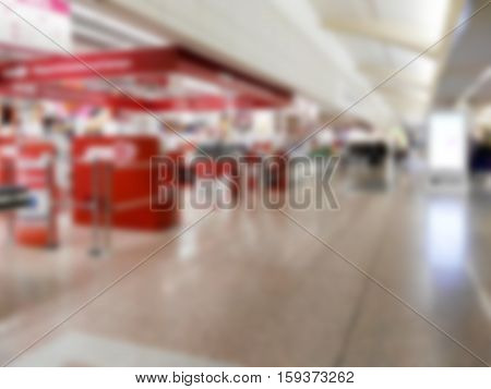 checkout of a shopping center blurry for internal backgrounds