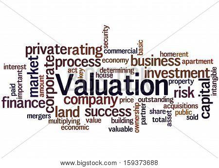 Valuation, Word Cloud Concept 9