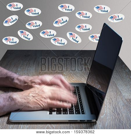 Many I Voted Stickers On Wall By Vote Hacker