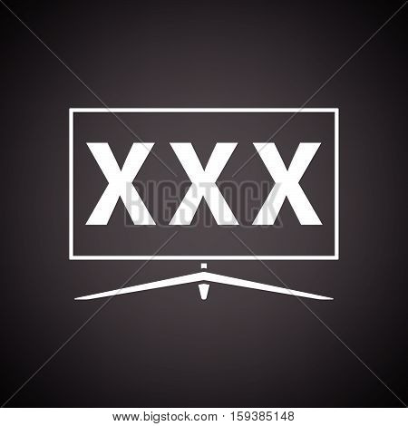 Tv Screen With Adult Content Icon