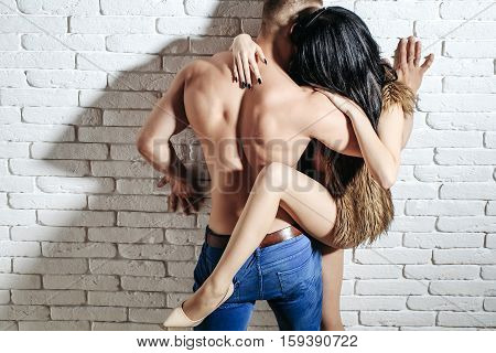 Muscular Man And Sexy Girl