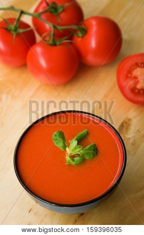 Cold Spanish Tomato-based Soup Gazpacho Originating In The Southern Region Of Andalusia