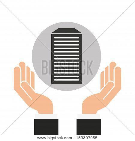 hands businessman data base vector illustration eps 10