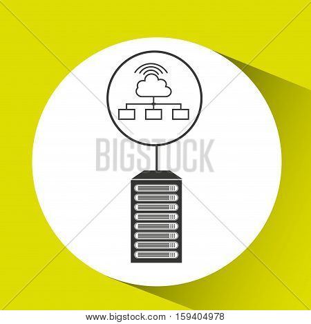 cloud wifi data center connection vector illustration eps 10