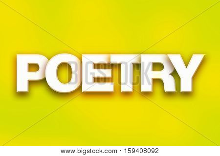 Poetry Concept Colorful Word Art