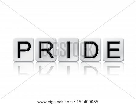 Pride Isolated Tiled Letters Concept And Theme