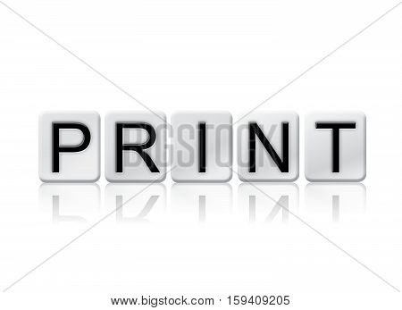 Print Isolated Tiled Letters Concept And Theme