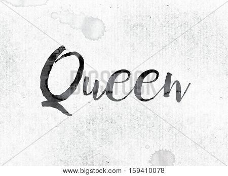 Queen Concept Painted In Ink