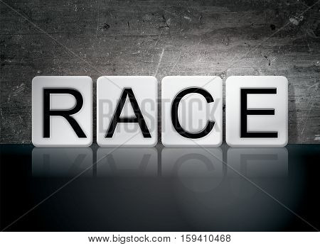 Race Tiled Letters Concept And Theme